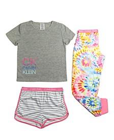 Big Girls 3 Piece Pajama Set