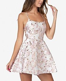Juniors' Lace-Up A-Line Dress