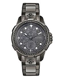 Versus Men's 6E Arrondissement Gray Stainless Steel Bracelet Watch 46mm