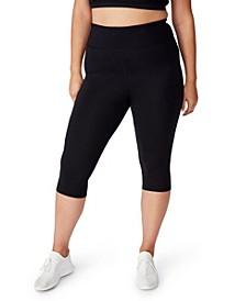 Plus Size Trendy Active Core Capri Tight Leggings
