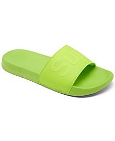 Men's City Neon Pool Slide Sandals from Finish Line