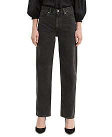 Cotton Straight-Leg Dad Jeans
