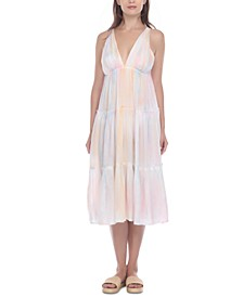 Tiered Midi Dress Coverup