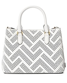 Marcy II Perforated Leather Satchel
