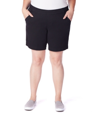 """Plus Size Gracie Pull On 8"""" Shorts"""