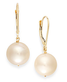 Cultured Freshwater Pearl Earrings in 14k Gold (10mm)