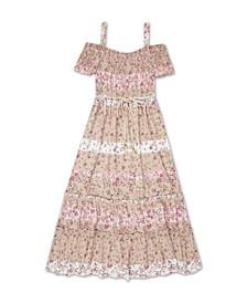 Big Girls Floral Off The Shoulder Dress
