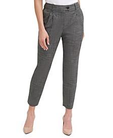 Pleated Slim Ankle Pants