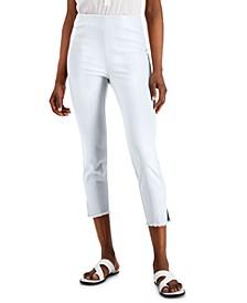 Petite Fringe-Trim Skinny Pants, Created for Macy's