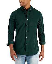 Men's Regular-Fit Stretch Corduroy Shirt, Created for Macy's