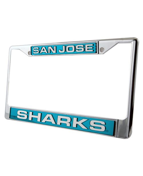 Rico Industries San Jose Sharks Laser License Plate Frame - Sports ... bb09a1b0f411