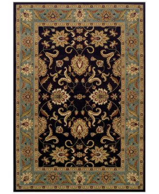 """CLOSEOUT! St. Charles STC524 Chocolate 5'1"""" x 7'5"""" Area Rug"""