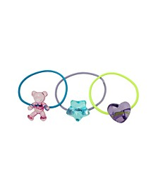 Mixed Charm Hair Tie, Set of 3