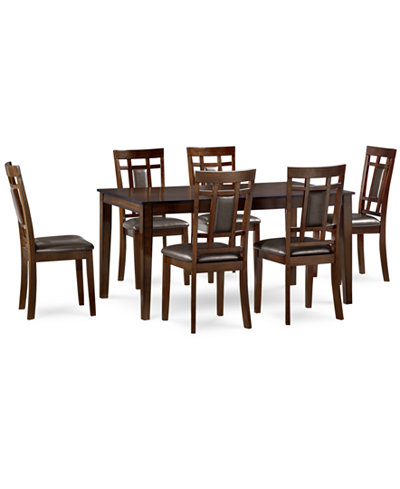 CLOSEOUT! Delran 7-Piece Dining Room Furniture Set, Created for ...