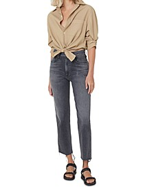 Daphne Raw Hem High Rise Jeans