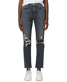 Distressed Holly High Rise Straight Leg Jeans