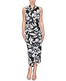 Bret Floral-Print Faux-Wrap Midi Dress