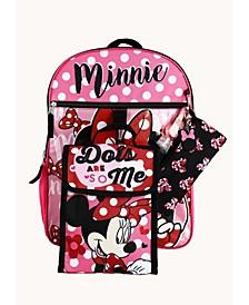 Kids Minnie Mouse 6 Piece Backpack Set