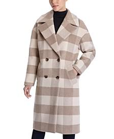 Petite Oversized Plaid Coat