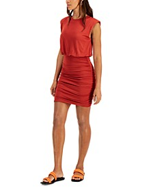 Solid Shirred Mini Dress, Created for Macy's