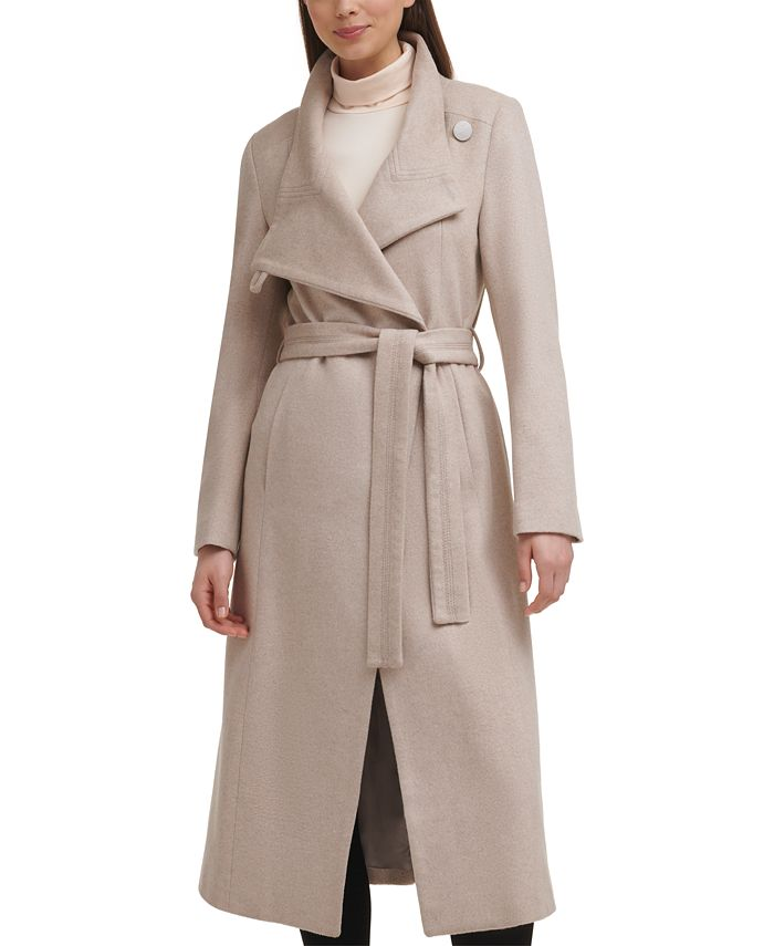 Kenneth Cole - Asymmetrical Belted Maxi Coat