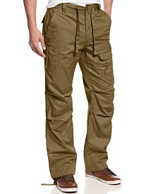 Sean John Men's Big and Tall Pants, Pleat Pocket Flight Cargo Pants