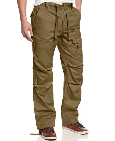 Sean John Men's Big and Tall Pants, Pleat Pocket Flight Cargo ...