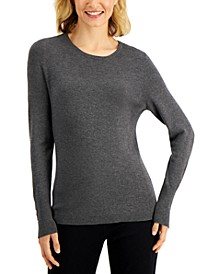 Button-Sleeve Sweater, Created for Macy's