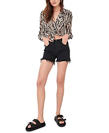 Makai Cotton Cutoff Denim Shorts