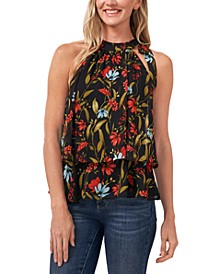 Floral-Print Tiered Top
