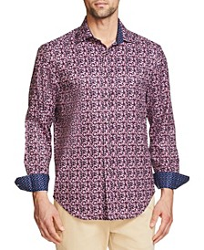 Men's Tie Dye Long Sleeve Button Up Shirt