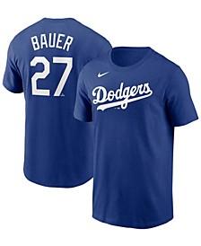 Los Angeles Dodgers Men's Name and Number Player T-Shirt - Trevor Bauer