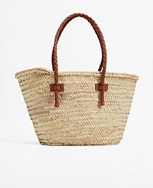 Women's Twisted Straps Basket Bag
