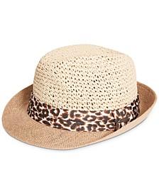 Leopard-Band Fedora Hat