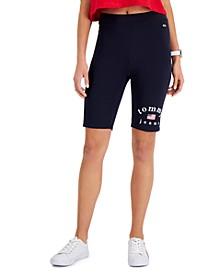Flag-Logo Bike Shorts