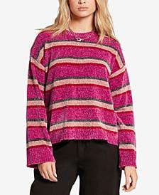 Juniors' Bubble Tea Striped Sweater