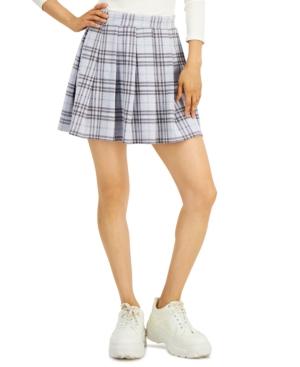 Juniors' Plaid Pleated Skater Skirt