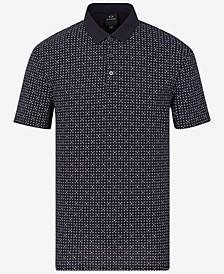 Men's Micro-Pattern Polo Shirt