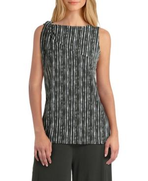 Women's Sleeveless Twist Neck Knit Pullover Top