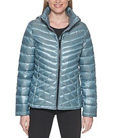 Hooded Packable Shine Down Puffer Coat, Created for Macy's