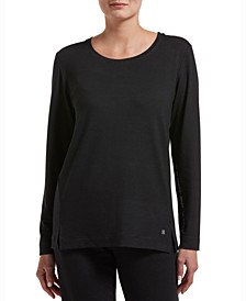 Plus Size Solid Long Sleeve Lounge T-Shirt