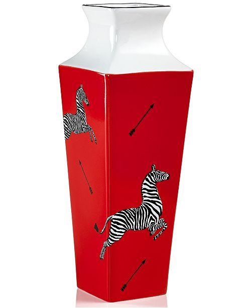 Scalamandre By Lenox Zebra Red Bud Vase Bowls Vases Macys