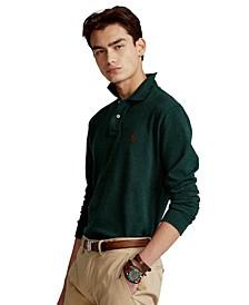 Men's Classic-Fit Mesh Long-Sleeve Polo Shirt