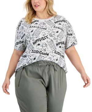 Trendy Plus Size Graphic Snoopy T-Shirt
