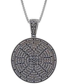 "Men's Diamond Circle 22"" Pendant Necklace (1/2 ct. t.w.) in Sterling Silver (Also in Black Diamond)"