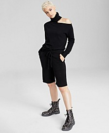Cold-Shoulder Top & Pull-On Shorts, Created for Macy's