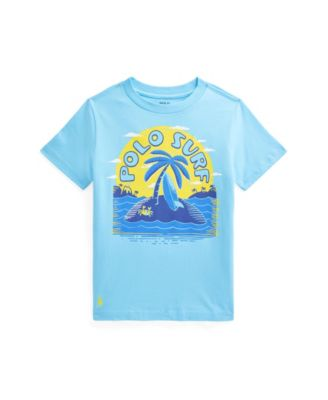 폴로 랄프로렌 남아용 반팔티 Polo Ralph Lauren Toddler Boys Jersey Graphic Tee,French Turquoise