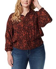 Trendy Plus Size Emery Smocked Blouse