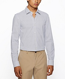 BOSS Men's Patterned Slim-Fit Shirt