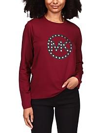 Stud Circle-Logo T-Shirt, Regular & Petite